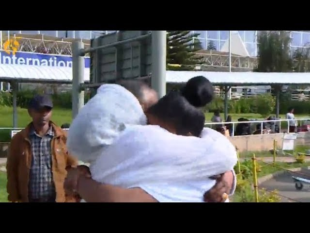 The tearful reunions as Ethiopian flight lands in Eritrea