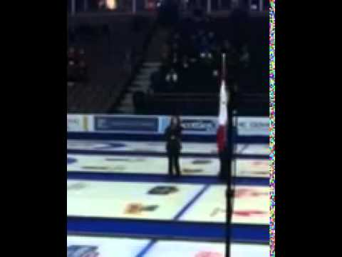 Shyla Raye Singing O Canada At Tim Hortons Brier 2013 video