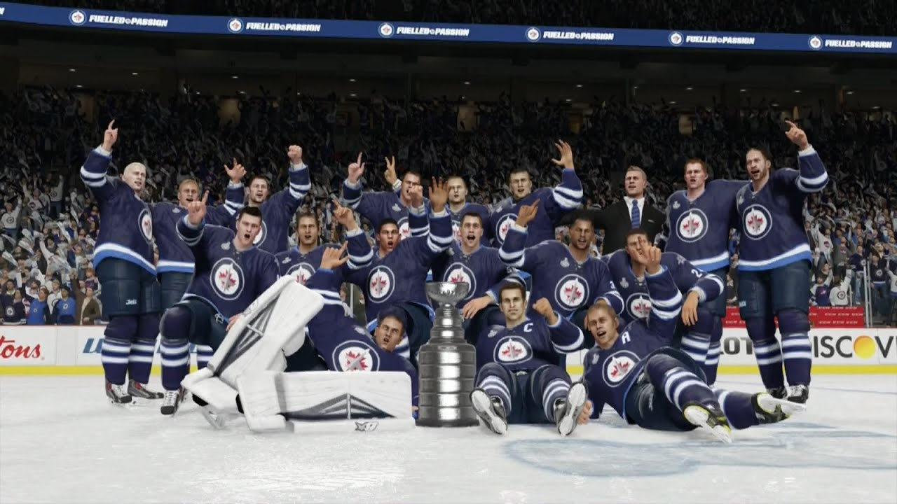 nhl winnipeg jets wallpaper NHL 15 Winnipeg Jets Stanley Cup Celebration YouTube