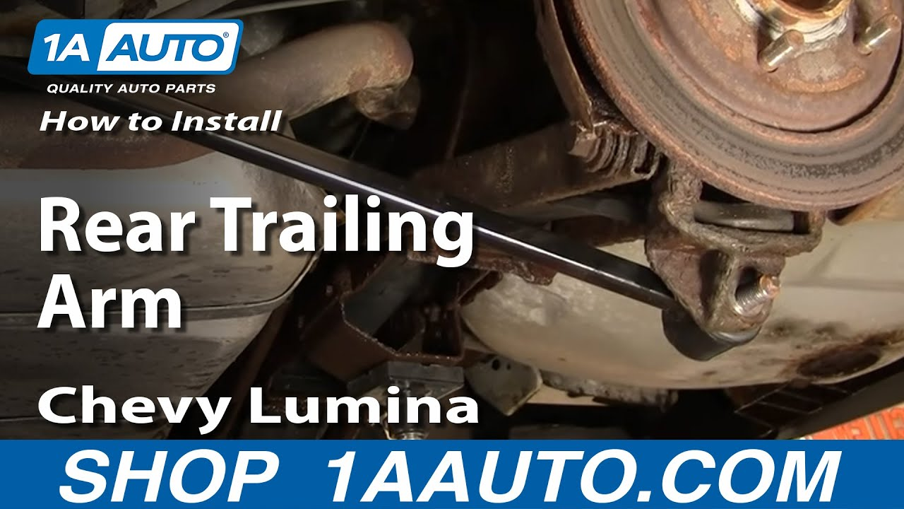 How To Install Replace Rear Trailing Control Arm Gm Front Drive 88 08 1aauto Com Youtube