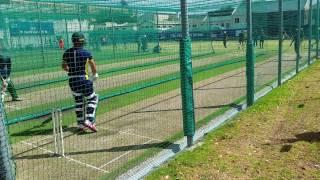 AB de Villiers in the Proteas nets