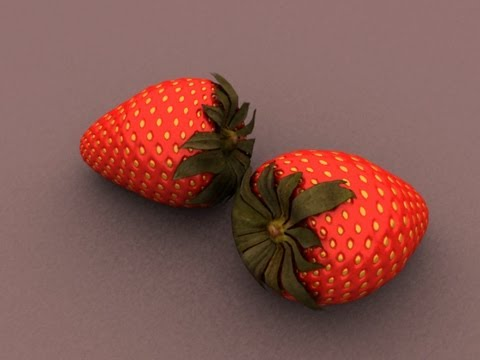Strawberry Model 3d Modeling Simple Strawberry