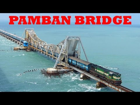 Train on Sea! RAMESWARAM PAMBAN BRIDGE!! Dangerous Railway Bridge!