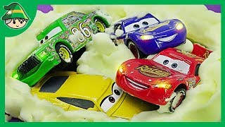 Disney car toy and yellow bubble play. Learning Color for Kids