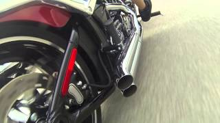 Bassani Xhaust Pro-Street Turn Outs on a Harley Softail Breakout