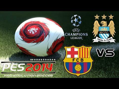 PES 2014 UEFA Champions League F.C. Barcelona vs Manchester City F.C. Exhibition match