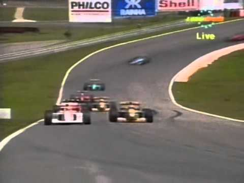 The battle of Ayrton Senna and Michael Schumacher at Interlagos, at the start and early part of the race before Senna retired with engine cutout problems. After the race, Schumacher was upset...