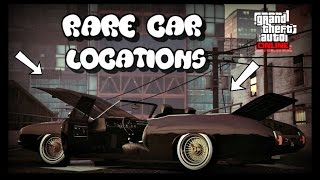 "*NEW* GTA 5 ONLINE ALL VERY RARE CAR LOCATIONS!! (RARE AND SECRET VEHICLES) 30 + VEHICLES  ""GTA V"""