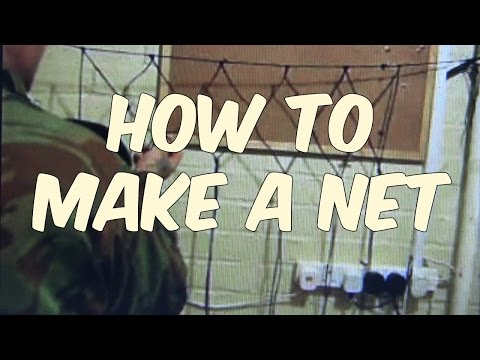How to make a net youtube for How to make a fishing net