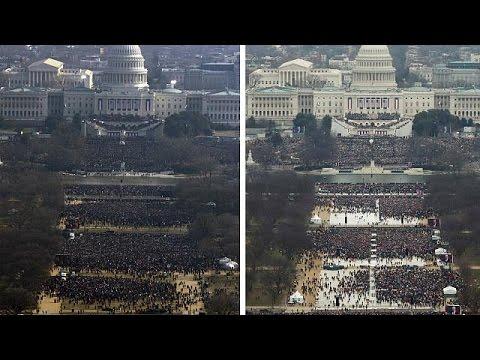 White House press secretary blasts media over Trump inauguration crowd