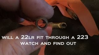 The Ultimate Squeeze Shot - 22lr  through a .223 Shell Casing at 75 Feet with a Ruger 10/22