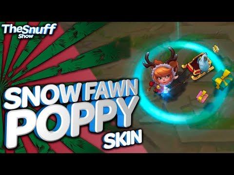 Снежный Олененок Поппи Обзор Скина - Snow Fawn Poppy Skin Review - League Of Legends