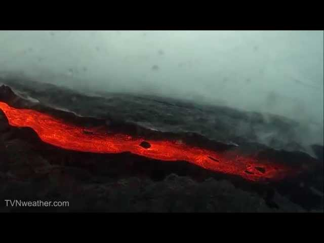 "RARE lava flow video from helicopter on Hawaii ""Big Island""!"