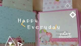 Cutest Easiest Mini Handmade Baby Girl Album Ideas/Baby Scrapbook/Pink Album/Creative Handmade Gift