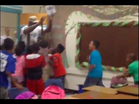 Michael Jordan Surprises an Elementary School
