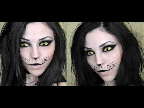 Sexy Black Cat   Halloween Makeup Tutorial