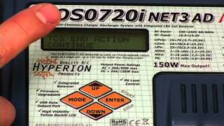 How to charge & discharge a LiPo pack using the Hyperion EOS720i NET3 AC/DC Charger