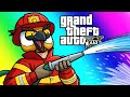 GTA5 Online Funny Moments: Doomsday Heists - Saving Hard Drives and Fighting Fires!
