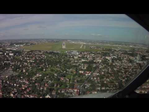 Pilot's eye view landing at Paris Orly