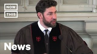 John Krasinski Gets Real With Graduates in Inspiring Speech | NowThis