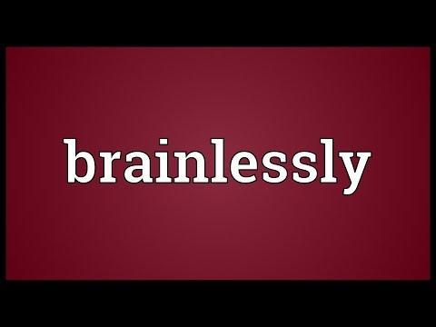 Header of brainlessly