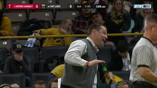 149 LBS: #2 Anthony Ashnault (Rutgers) vs. Pat Lugo (Iowa) | Big Ten Wrestling