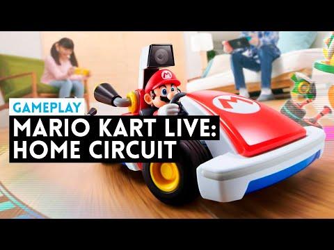 Gameplay MARIO KART LIVE: HOME CIRCUIT (Switch) Mario Kart en el MUNDO REAL