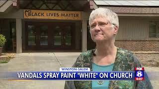 Church vandalized in Winston-Salem