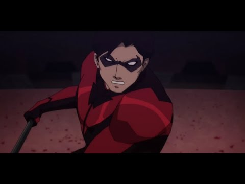 Nightwing and Robin VS Deathstroke Full Fight Scene   Teen Titans 'The Judas Contract' HD