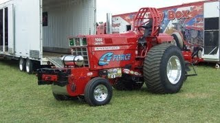 Seven Case IH Tractors Pull at Elkhart County Fair