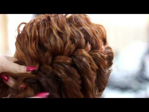 Holiday hair tutorial for Christmas. New Year ❤ Cute. easy CURLY UPDO for medium long hair