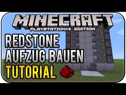 Minecraft PS3 Edition Redstone Fahrstuhl bauen Tutorial Deutsch HD