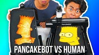 I Tried To Do Pancake Art Against A Pancake Art Robot