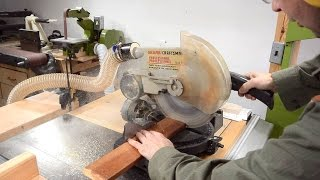 How much dust from a miter saw?