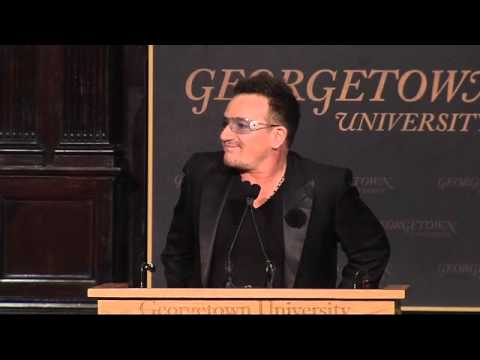 U2 s Bono Speaks at GU Global Social Enterprise Event