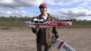 Bush flying in Finnmark with model airplanes