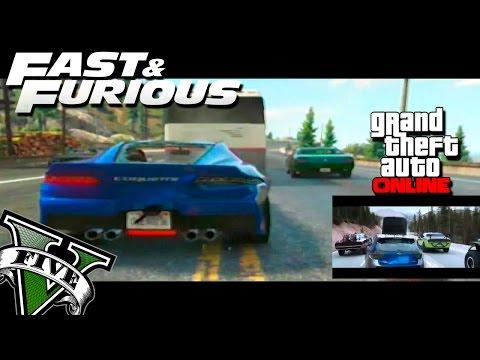 GTA V Rapidos y Furiosos 7 - Trailer Oficial Remasterizado en GTA