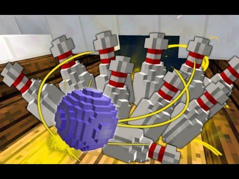 Minecraft | BOWLING IN VANILLA MINECRAFT! | I Challenge You! | No Mods | 1.8.3