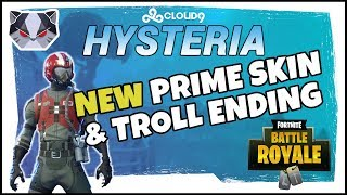 Hysteria | Fortnite Battle Royale - NEW Prime Skin & Troll Ending - Duos with Yelo