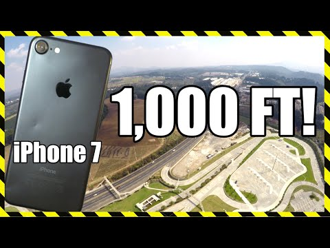 iPhone 7 Drop Test - From 1.000 FEET!! DON'T TRY THIS