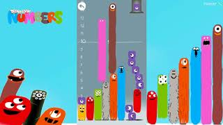 Build a big tower of numbers 2 - Sandbox - DragonBox: Numbers - Строим большую башню из чисел 2.