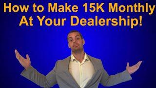 Car Sales - The 3 Keys to Making 6 figures Selling Cars ! Salesman Tips