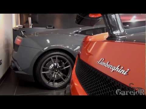 2x Gallardo SLG Edizione Techinca, Red Performante, Grey SLG - Lamborghini London