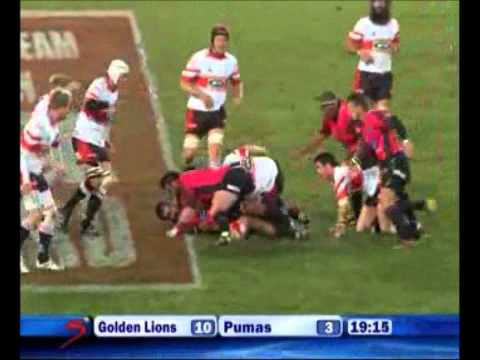 Lions vs Pumas Currie Cup -Rugby Video Highlights 2011