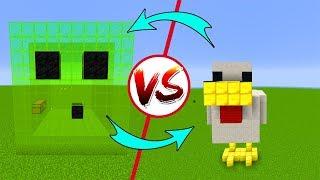 SLİME EV vs TAVUK EV - Minecraft