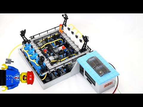 Lego pneumatic compressor automated by Arduino for future Lego train projects