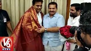 TRS MLAs And MLCs Wishes KTR Over Appointing As TRS Working President | Hyderabad