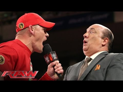 John Cena Wants To Show Brock Lesnar He's Ready For Night Of Champions: Raw, Sept. 8, 2014 video