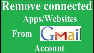 How to Remove Connected apps and Sites from Google Account | (Hindi)