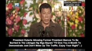 Pres Duterte Allowing Marcos To Be Buried At The Libingan Ng Mga Bayani